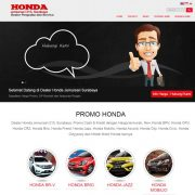 desain website sales mobil honda surabaya