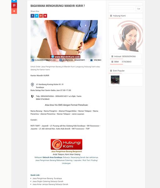 PEMBUATAN WEBSITE KURIR SURABAYA