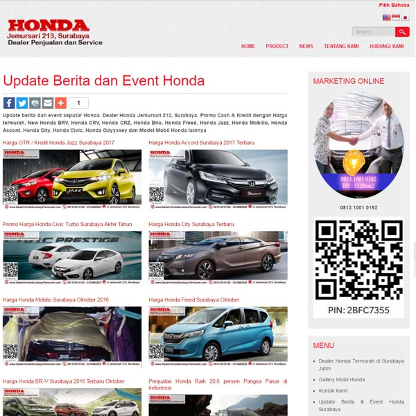 websiter dealer honda surabaya