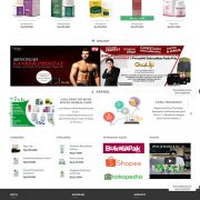 DESAIN WEBSITE ONLINE SHOP OBAT HERBAL