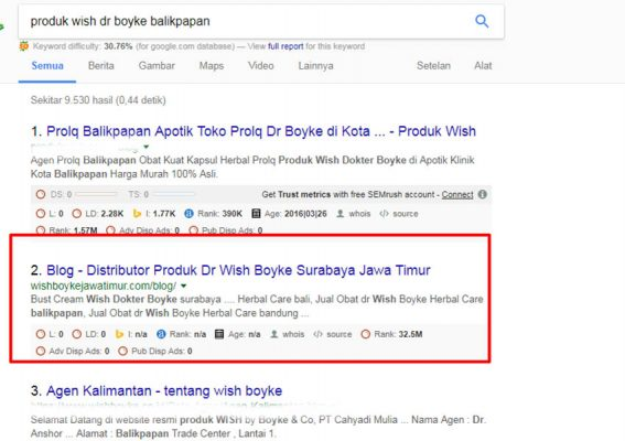 WEBSITE ONLINE SHOP - WISH BOYKE JATIM