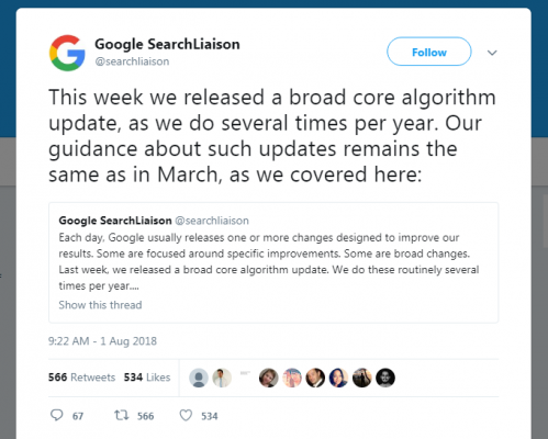 Pembaruan Algoritma Google Agustus